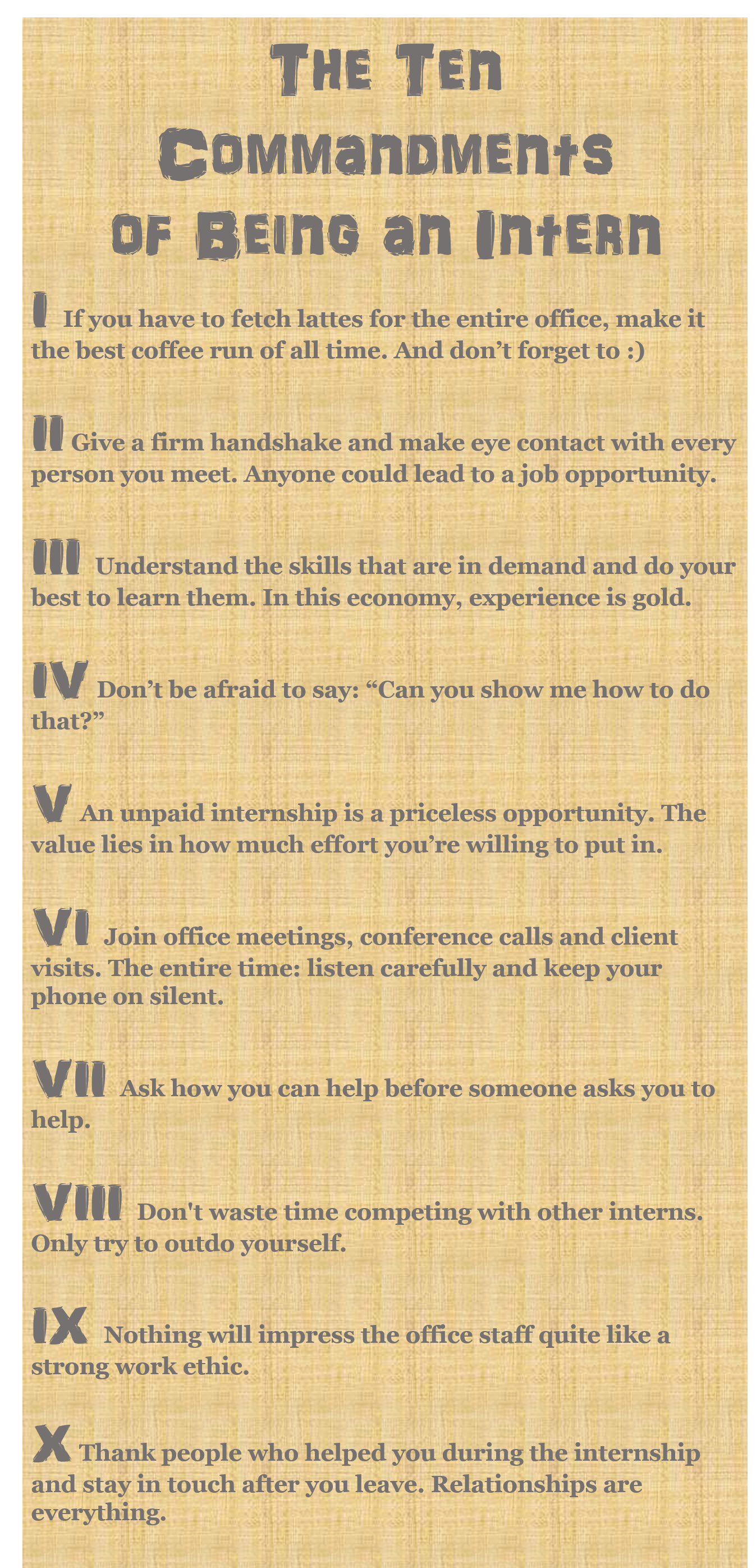 the 10 commandment of being