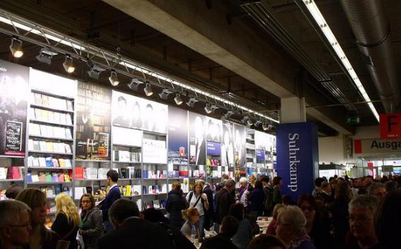 The crowds at the Frankfurt International Book Fair.